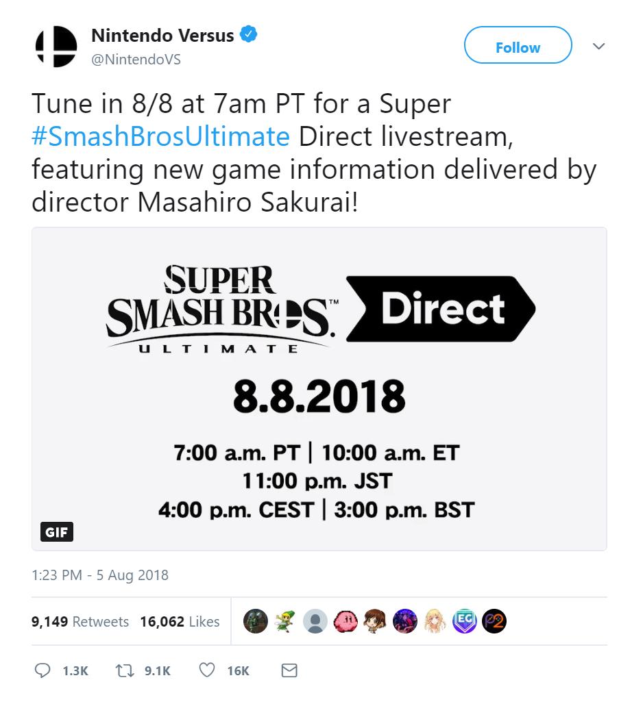Smash Bros Direct